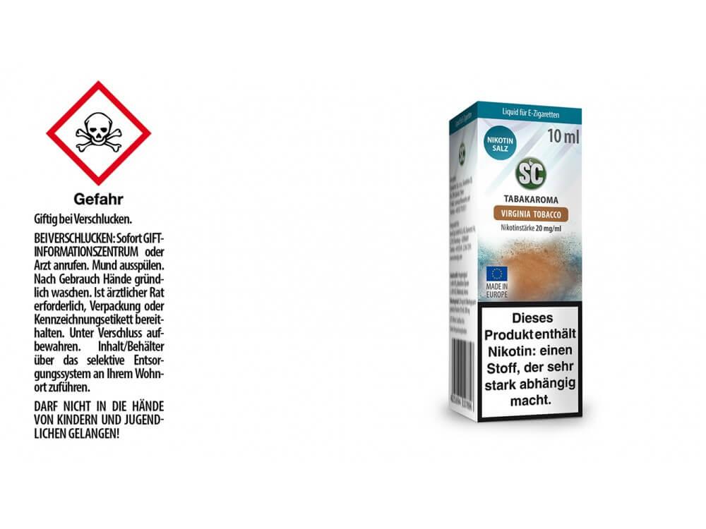 SC - Virginia Tobacco - E- Zigaretten Nikotinsalz Liquid 20 mg/ml