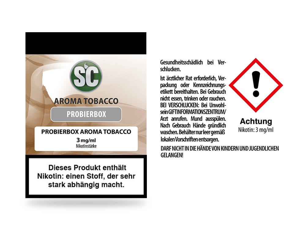 Tobacco Probierbox E-Zigaretten Liquid