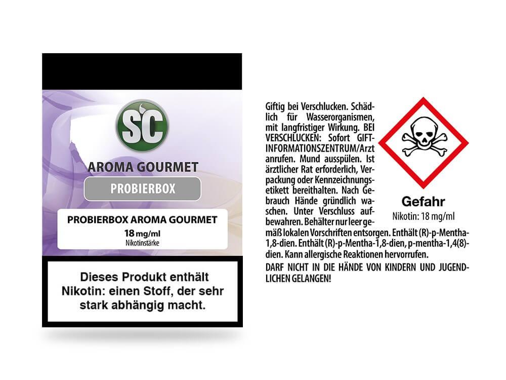 Gourmet Probierbox E-Zigaretten Liquid